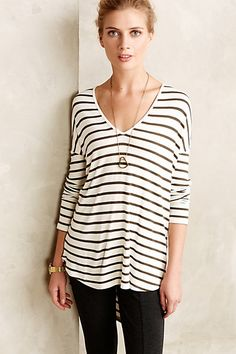 striped tunic tee #anthrofaves