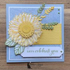 Birthday Wishes, Birthday Cards, Sunflower Cards, Stampin Pretty, Alphabet Design, Paper Pumpkin, Stamping Up, Rubber Stamping, Stampin Up Cards
