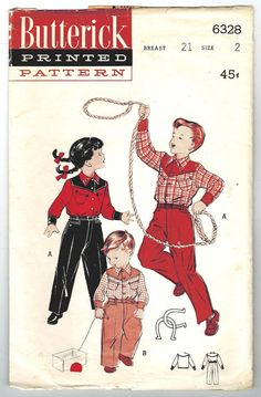 Butterick 6328 Vintage 50s Fun Toddler Girls or by PatternPlaying