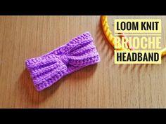 How to Loom Knit a Brioche Stitch Headband / Ear Warmer (DIY Tutorial) - Loom knitting Loom Crochet, Loom Knit Hat, Crochet Stitches, Crochet Baby, Loom Knitting Patterns, Circular Knitting Needles, Diy Knitting Loom, Finger Knitting, Simply Knitting