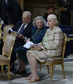 Part Of The Swedish Royal Family At The Te Deum.