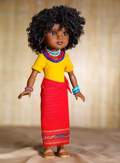 """Rahel, an Ethiopian Doll, one of the newest additions to our 18"""" doll lineup."""