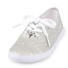 Girly glam meets sporty style for these sparkle sneakers!