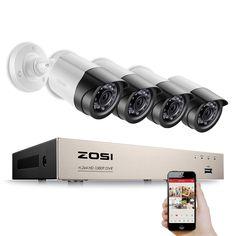 154.00$  Buy now - http://alizni.shopchina.info/1/go.php?t=32662440180 - ZOSI 4CH 1080P HDMI P2P TVI DVR Surveillance System Video Output 4PCS 2000TVL 2.0MP IP Camera Home Security CCTV Kits NO HDD  #SHOPPING