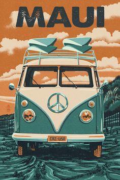 Maui, Hawaii - VW Van