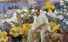Joaquin Sorolla, Louis Comfort Tiffany (1911) (How art made the modern garden)