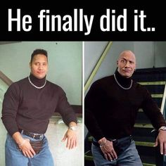 Dwayne Johnson and his friend The Rock - Dwayne Johnson and his friend The Rock - Really Funny Memes, Funny Relatable Memes, Stupid Funny, Funny Cute, Funny Jokes, Hilarious, Funny Stuff, The Rock Dwayne Johnson, Dwayne The Rock