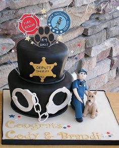 Sheriffs Deputy Groom's cake =) by Christina's Dessertery, via Flickr