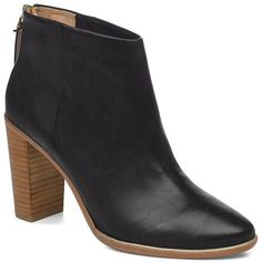 Ted Baker Lorca2 Leather Ankle Boots ($230) ❤ liked on Polyvore featuring shoes, boots, ankle booties, black, black ankle bootie, ankle boots, black leather bootie, black ankle boots and leather bootie