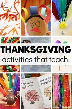 New Thanksgiving activities to try in your preschool this year! Homeschool kids will love them too! Each is meaningful and teaches a skill - literacy, math, sensory, fine motor, etc. Keep the learning going during this fun holiday season! Early Learning Activities, Rhyming Activities, Thanksgiving Activities For Kids, Thanksgiving Crafts, Preschool Lesson Plans, Preschool Math, Kids Writing, Fine Motor, Holiday Fun