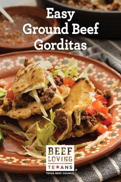Make ground beef gorditas at home in just a few easy steps.