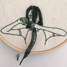 Embroidery hair cut:@_____ism.