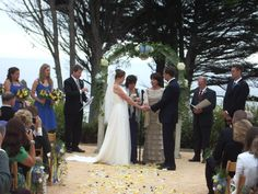 The Ledford House in Albion,Ca. hosts a beautiful oceanside wedding.