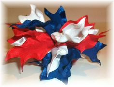 Double Ruffle Firecracker Bow
