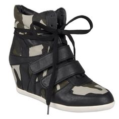 971c7ee70dbc Nature Breeze DANA-13 Lace Up Camouflage Hidden Wedge High Top Sneaker Shoe  Nature Breeze - Army Girl