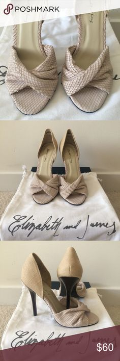 Elisabeth and James shoes, size 37 Gorgeous and elegant soft leather shoes from luxury brand Elizabeth and James. Excellent condition, only worn once and inside. EU size 37 will fit US 6.5 Elizabeth and James Shoes Heels