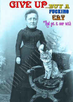 Blank Cards, Cat Lady, Greeting Cards, Etsy Shop, Cats, Handmade Gifts, Fictional Characters, Victorian, Kid Craft Gifts