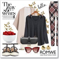 Romwe: Hollow Black T-shirt