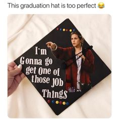 Rachel from Friends grad cap quote is part of Monday humor Retro Funny - Rachel from Friends grad cap quote graduation cap Funny Graduation Caps, Graduation Cap Designs, Graduation Cap Decoration, Graduation Diy, High School Graduation, Funny Grad Cap Ideas, Decorated Graduation Caps, Tv: Friends, Funny Friends