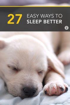 27 Tips to Sleep Better Tonight #sleep #health #rest #relax