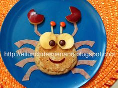 El Lunch de mi Enano: Un cangrejito playero en el lunch de mi enano