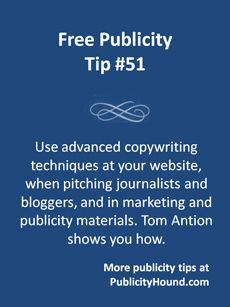 Advanced copywriting techniques can help you persuade journalists and bloggers to write about you. They can also help you sell more products and services at your website. Internet marketer Tom Anion's excellent in-depth free class on how to write persuasive copy will give you a toolbox of tips and tricks that will help you convince people to do exactly what you want them to do. #copywriting #writingtips #salescopy