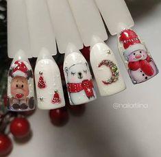 Xmas Nail Art, Red Christmas Nails, Xmas Nails, Christmas Nail Art Designs, Christmas Art, Teen Nails, Unicorn Nails Designs, Nail Pictures, Flower Nails