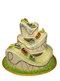 Roller Coaster Cake! Imagine Space Mountain, Splash Mountain or Rockin' Roller Coaster!