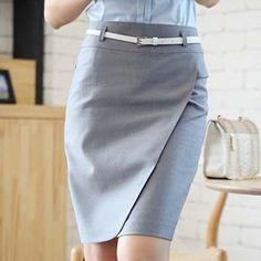 2014 coreano Lady versão Formal envolvido saia Hip tamanho grande trabalho desgaste saias feminino ladies escritório saia de uma peça em Saias de Roupas & acessórios no AliExpress.com | Alibaba Group