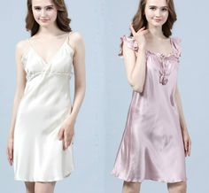 Which style would like prefer or you can show me your desirable style🤔🤔🤔 Silk Nightgown, Mulberry Silk, Night Gown, White Dress, Dresses, Style, Fashion, Dress Shirt, Dress Night