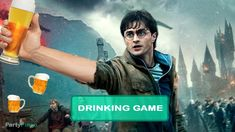 Harry Potter and the Deathly Hallows: Part 1 Drinking Game - Partypingo Deathly Hallows Part 1, Game Tag, Drinking Games, Harry Potter, Adventure, Movie Posters, Movies, Fictional Characters, Film Poster