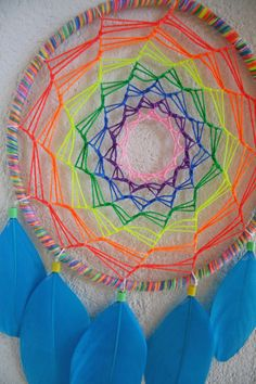 Rainbow UV Dreamcatcher for Decoration or Catching by GaiasMagic