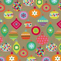 Krafty Baubles Printed Gift Wrap - Half Ream - Gift Wrap - Holiday Collection