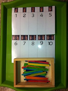 6.5.1 Finger Patterns: Children can work independently to lay the correct number of items (or they could clip clothes pegs) onto the cards.
