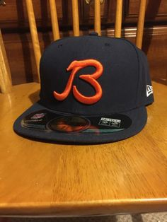 1b1363b05  Chicago  Bears Authentic  NFL New Era Hat Sz 7 3 8 from