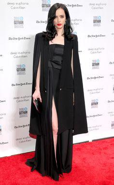 Krysten Ritter from Gotham Independent Film Awards 2016 Red Carpet Arrivals  The Hero star stuns in her blackCushnie et Ochs gown.