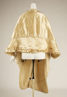 Silk cape 1815. Nearest to what the pink cape must have been like! Met museum.