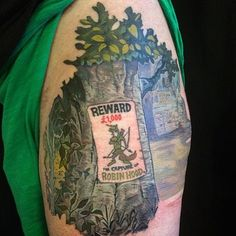 Amazing Robin Hood tattoo!!!