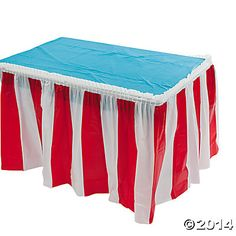 4 pack Red White Striped Table Skirt Carnival Circus decorations * Visit the image link more details. (This is an affiliate link) Carnival Party Supplies, Circus Carnival Party, Circus Theme Party, School Carnival, Carnival Birthday Parties, Circus Birthday, Birthday Party Themes, Carnival Ideas, Carnival Games