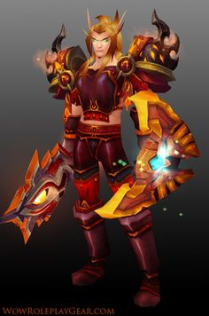 : 55 for Thorium pieces, 85 with extras Source: Blacksmith crafted with BoP raid drop extras Availability: Potentially time consuming to gather. Paladin Transmog, World Of Warcraft, Fan Art