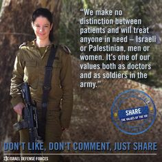Protecting human life and dignity. These are two of the principal values in the IDF's code of ethics.