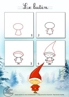 Dessin1_Comment dessiner un lutin de Noël ?