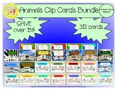 Animals Clip Cards Bundle