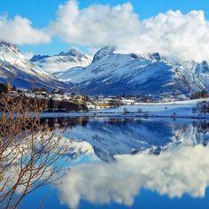 """Winter wonderland in Sula, Norway   Photo by @amundmaroy"""