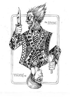 Book Cover (Dr Jakell & Mr Hyde) - playing cards image refection