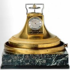 Constant Force Tourbillon Clock, No. 1252. On 9 March 1798, the first patent registered by A.-L. Breguet was for the constant-force escapement.