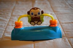 Bright Starts Bounce Baby Exersaucer Replacement Part Spinning Monkey Toy #BrightStarts