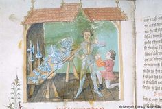 Ordonances of Chivalry, MS M.775 fol. 122v - Images from Medieval and Renaissance Manuscripts - The Morgan Library & Museum