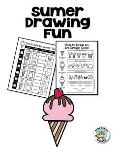 Use the ice cream cone to teach a color lesson or just to keep kids drawing this summer!