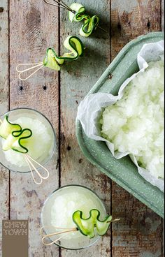 A super refreshing way to enjoy a classic cocktail: Cucumber Gin and Tonic Granita | Chew Two
